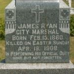James Ryan City Marshal's Gravestone