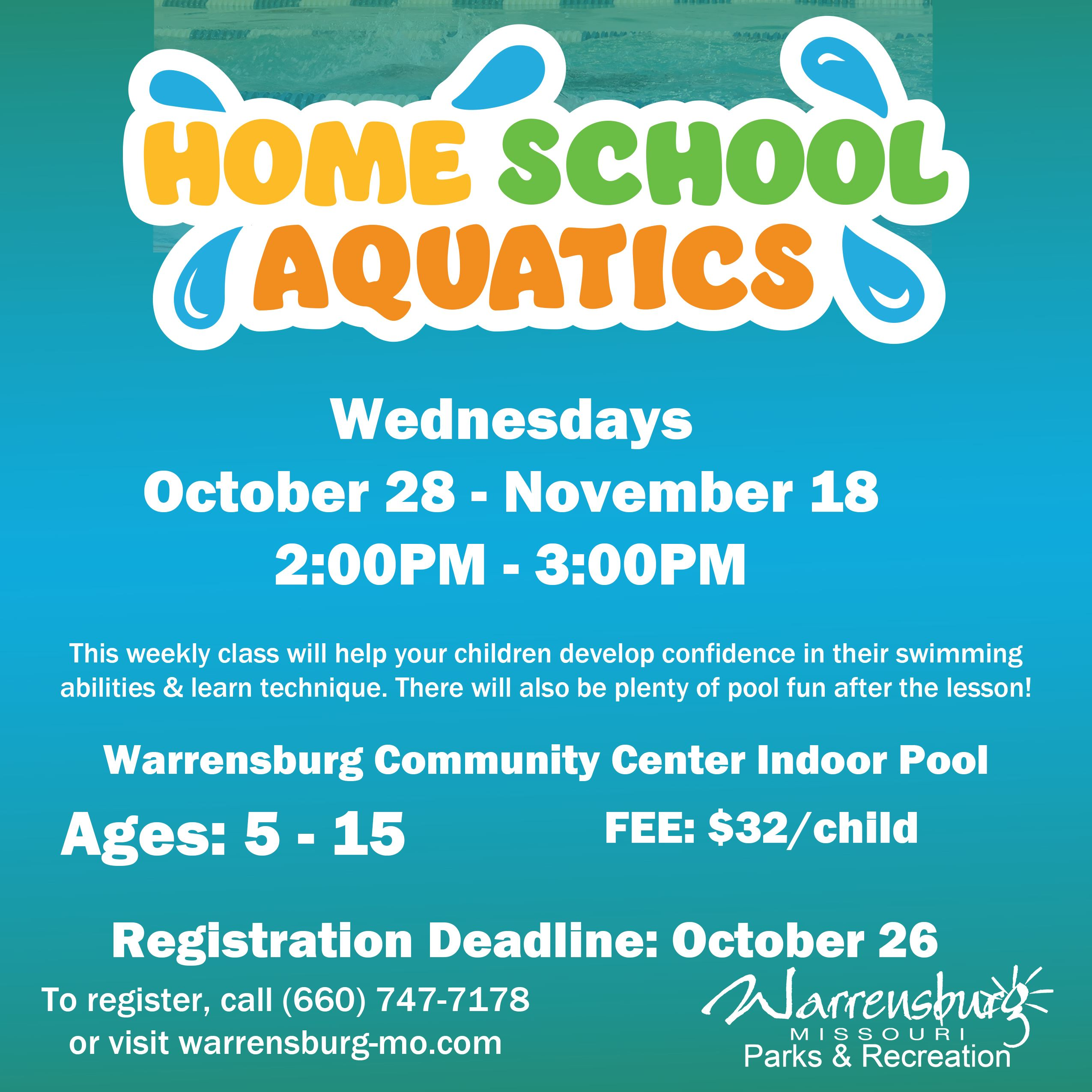 Home School Aquatics Fall 2020 Session 2 Web ver. 2