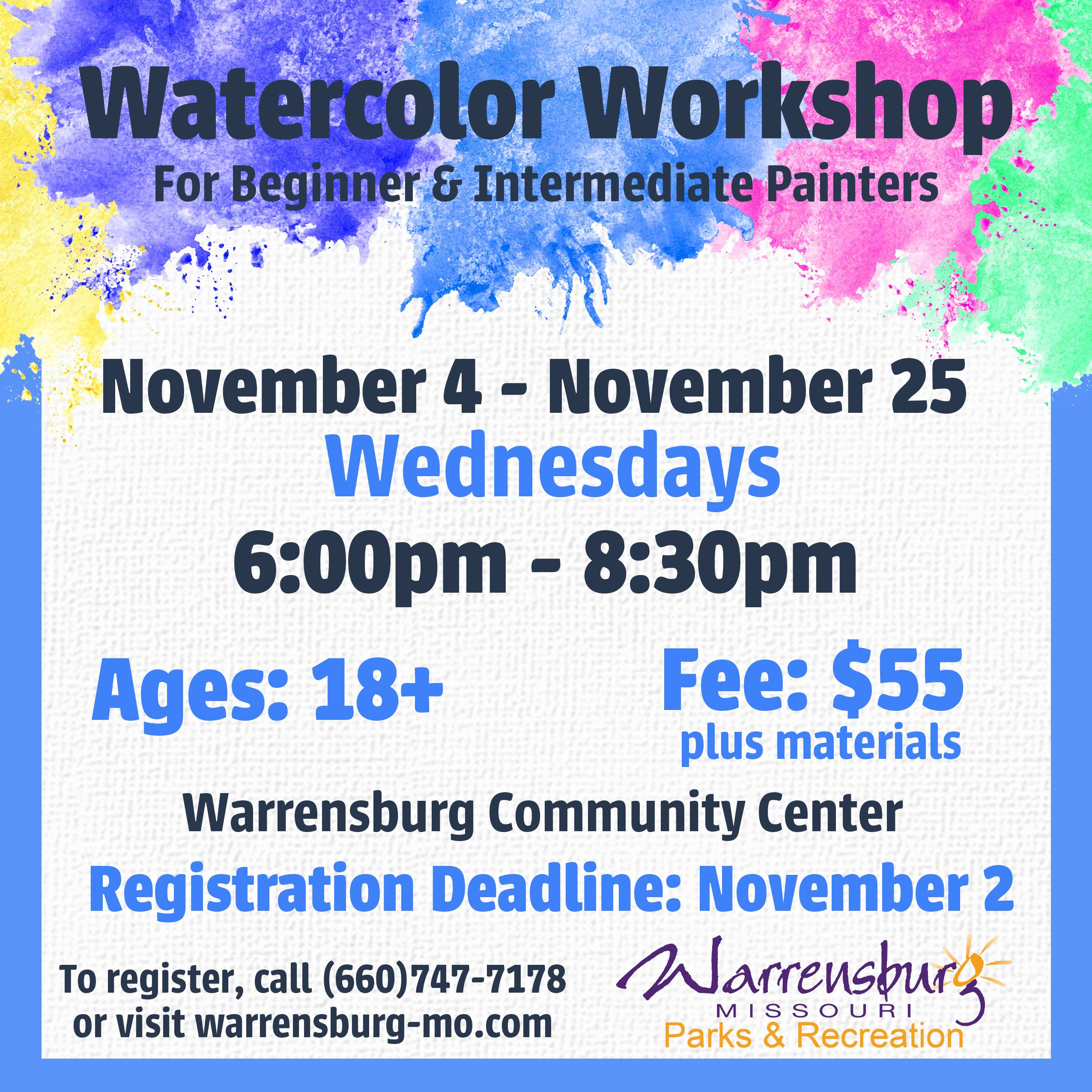 WatercolorWorkshopWeb Fall 2020 Session 1