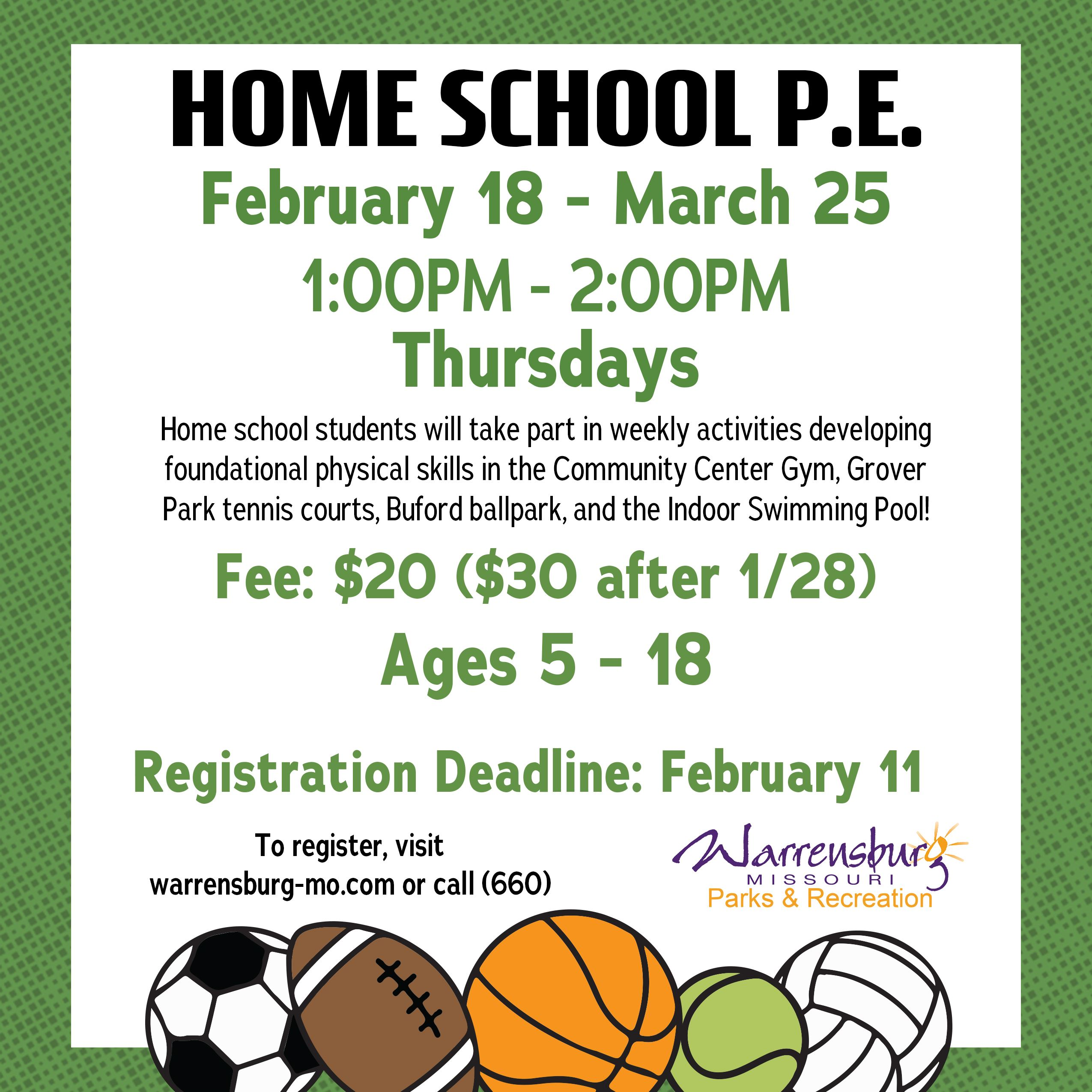 HomeSchool PE Web Spring 2021 Session 2